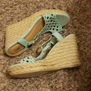 Cato Shoes - Cato Mint green Wedges